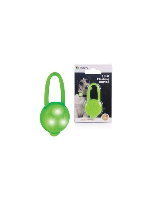 Přívěšek LED na obojek silikonový zelený