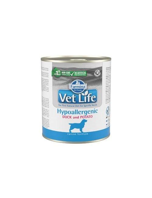 Vet Life Natural Dog konz. Hypoaller Duck&Potato 300g
