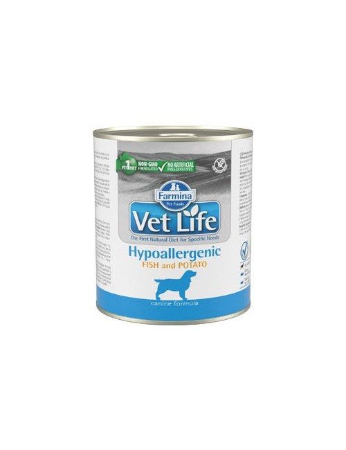 Vet Life Natural Dog konz. Hypoaller Fish&Potato 300g