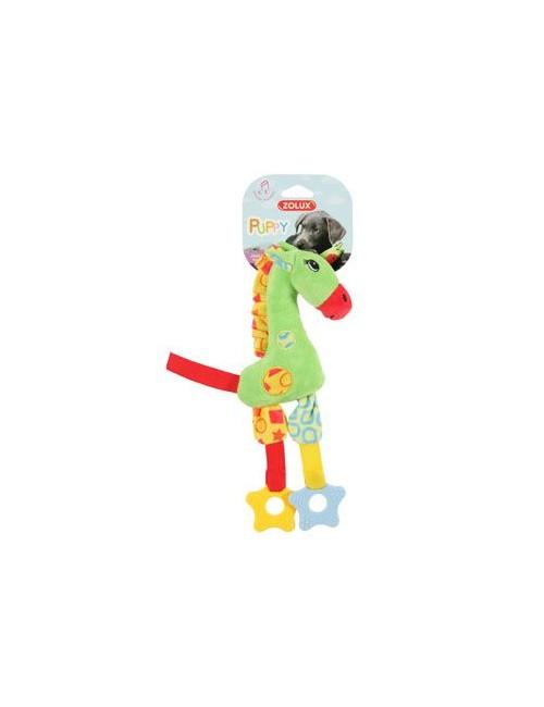 Hračka pes GIRAFFE COLOR plyš zelená 29cm Zolux