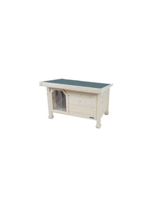 Bouda dřevěná pro psy rovná střecha L 112x82x76cm Zolu