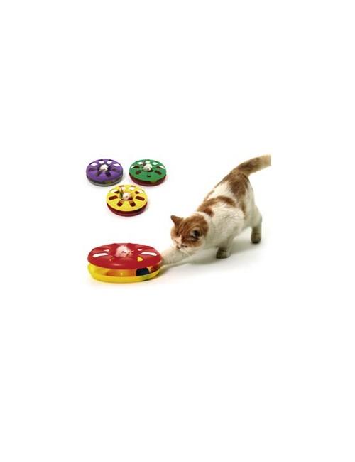 Hračka kočka Talíř plast oboustr. s míčkem 24cm KAR