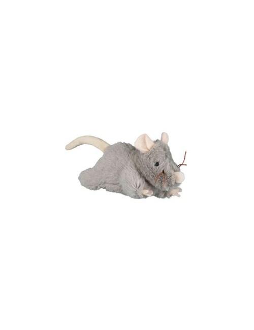 Hračka kočka Myš šedá plyšová robustní 15cm 1ks TR