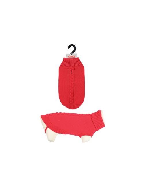 Svetr s rolákem pro psy ALLURE červená 30cm Zolux