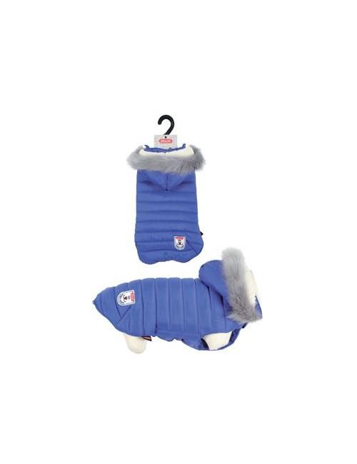 Obleček prošívaná bunda pro psy URBAN modrá 25cm Zolux