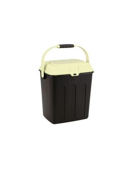 MAELSON Box na granule černá/slonová kost 3,5kg