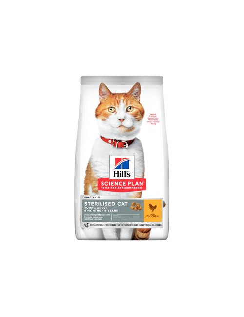 Hill's Fel. Dry Adult Young Sterilised Cat Chicken 3kg
