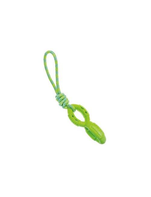 Hračka pes kroužky s provázkem 48 cm