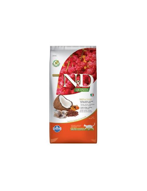 N&D GF Quinoa CAT Skin&Coat Herring & Coconut 5kg