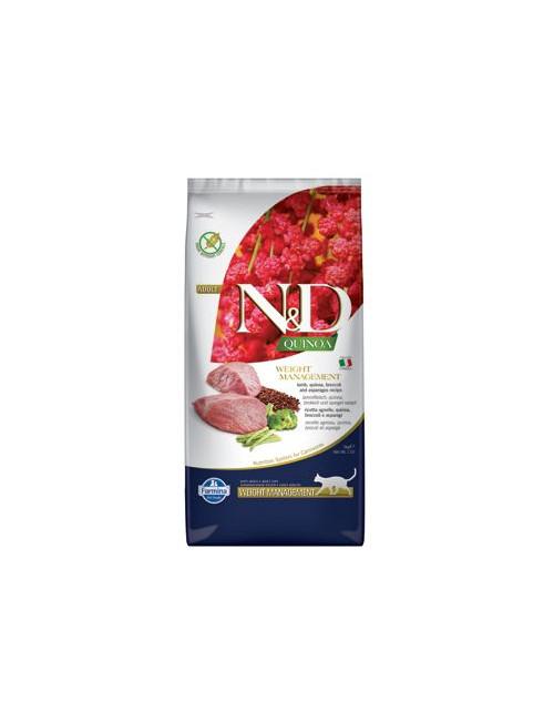 N&D GF Quinoa CAT Weight Mngmnt Lamb & Broccoli 5kg