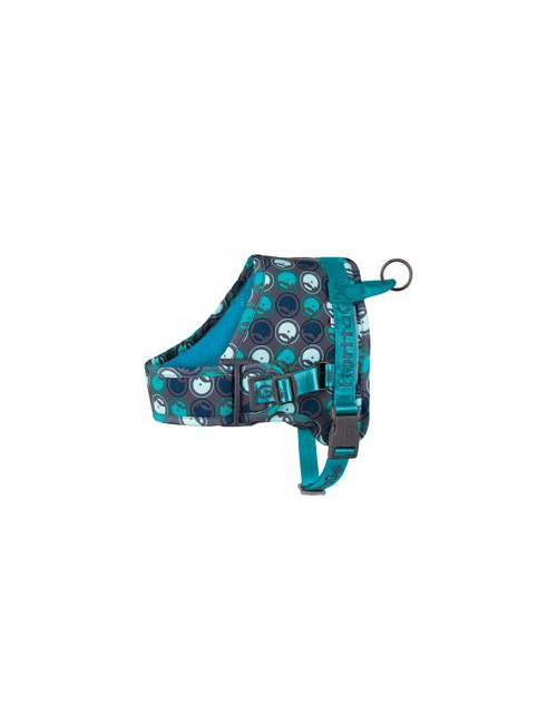 Postroj Hurtta Go 65-80cm šedý/modrý