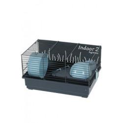 Klec křeček INDOOR 2 40cm modrá/šedá s výbavou Zolux