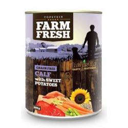 Farm Fresh Dog Calf with Sweet Potatoes konzerva 800g