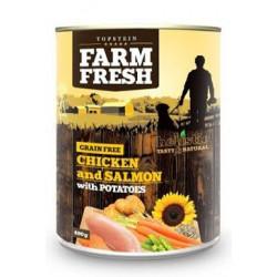 Farm Fresh Dog Chicken&Salmon with Potatoes konz 400g