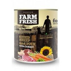 Farm Fresh Dog Sheep&Duck with Carrot konzerva 800g