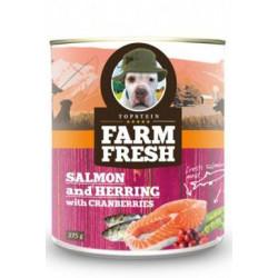 Farm Fresh Dog Salmon&Herring+Cranberries konzer 375g