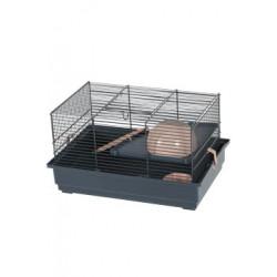 Klec myš INDOOR 2 40cm losos/šedá s výbavou Zolux