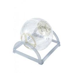 Hračka hlodavec cvičná koule 2v1 18cm béžová