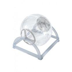 Hračka hlodavec cvičná koule 2v1 18cm šedá