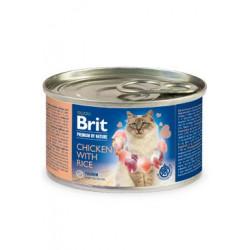 Brit Premium Cat by Nature konz Chicken&Rice 200g