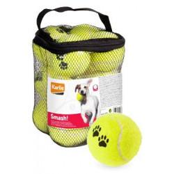 Hračka pes tenisové míčky 12ks - 6cm žlutá
