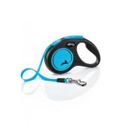 Vodítko FLEXI Neon S pásek 5m/15kg modrá NEW