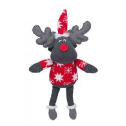 Vánoční hračka pro psy - Sob šedý hnědý 42cm