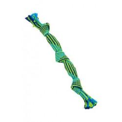 Hračka pes pískací lano 35cm mod/zel BUSTER