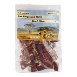 Pochoutka pro psy 230g hovězí maso kostky