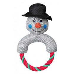 Vánoční hračka - Sněhulák z vlněné látky