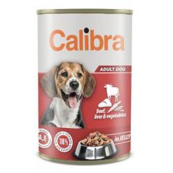 Calibra Dog  konz.hovězí+játra+zel. v želé 1240g NEW