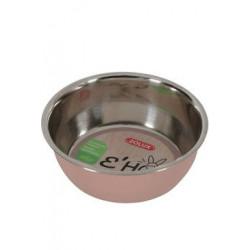 Miska nerez EHOP hlodavec 200ml růžová Zolux