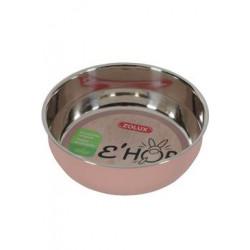Miska nerez EHOP hlodavec 400ml růžová Zolux
