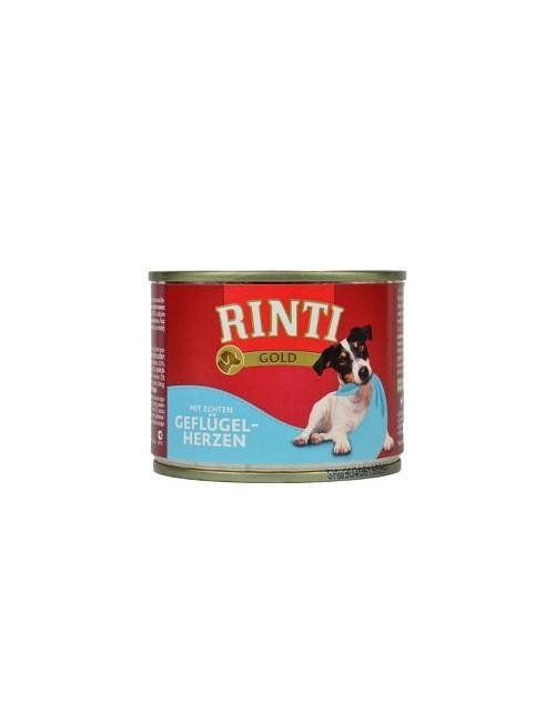 Rinti Dog Gold konzerva drůbeží srdíčka 185g