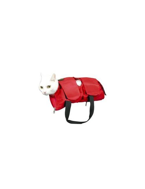 Taška fixační pro malá zvířata, červená, vel. S BUSTER
