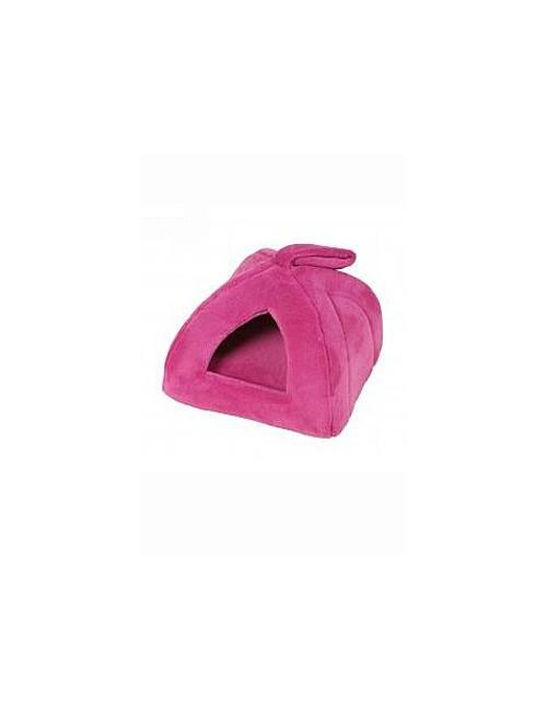 Pelech domek Iglů 35x35cm A27 Růžová tm. 1ks