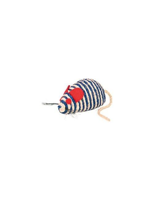 Hračka kočka Myš sisal s kuličkami 10cm TR 1ks