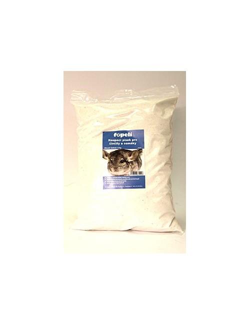 Písek pro činčily bílý 3kg  Fopeli
