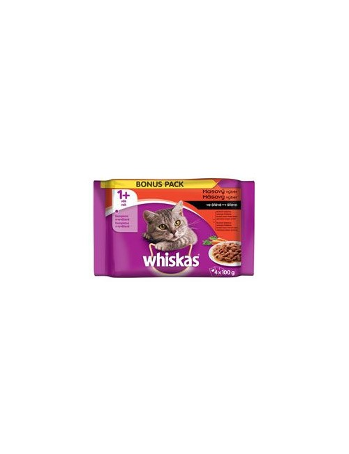 Whiskas kapsa Klasický výběr se zeleninou 4x100g*