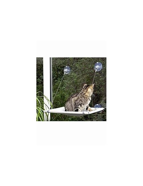 Odpočívadlo kočka okenní 51,5x31x2,5cm šedé KAR