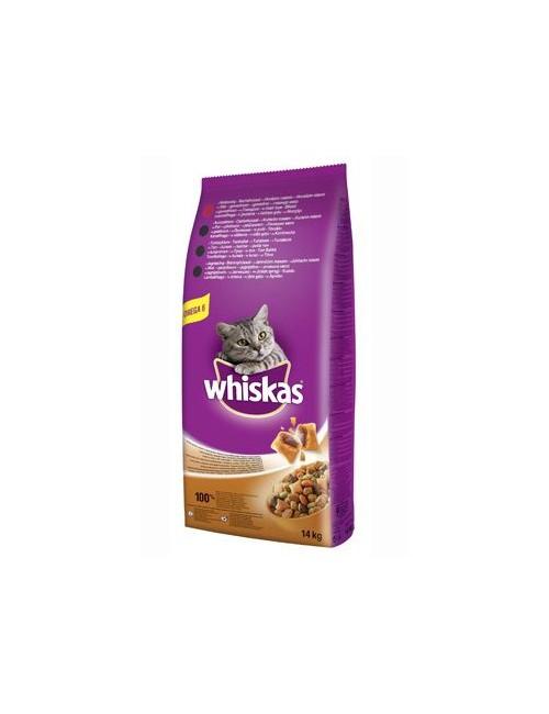Whiskas Dry s hovězím masem a játry 14kg