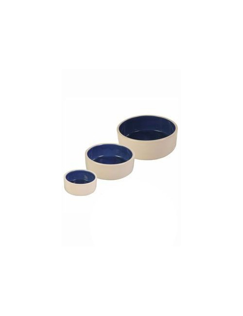 Miska keramická pes bílá/modrá 1l 18cm TR 1ks