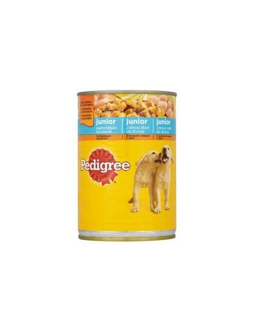 Pedigree konzerva Junior kuřecí ve šťávě 400g