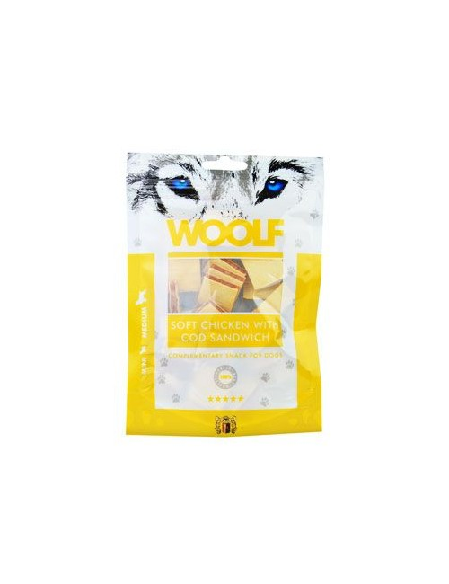 WOOLF pochoutka soft chicken with cod sandwich 100g
