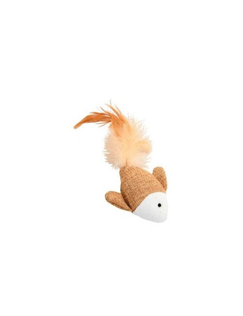 Hračka kočka ryba 7,5cm textil Zolux
