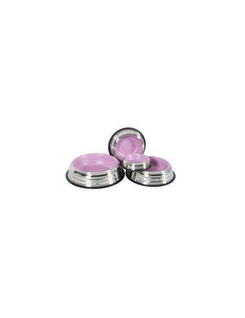 Miska nerez protiskluz pes MERENDA 1,8l růžová Zolux