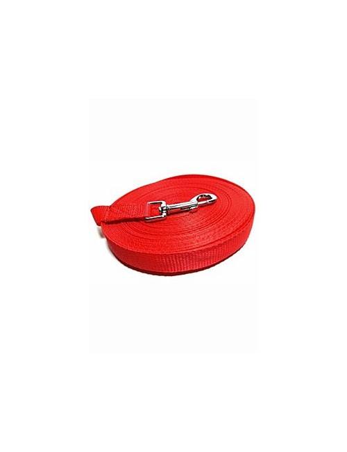 Vodítko DINOFASHION stopovací ploché červené 10m/2cm