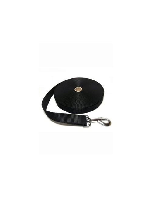 Vodítko DINOFASHION stopovací popruh černé 15m/2,5cm