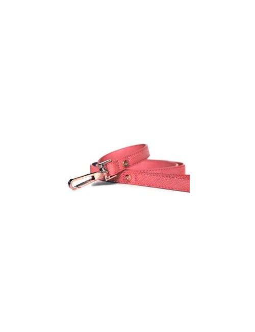 Vodítko kožené Růžové 120cm/1,5cm 1ks M&P